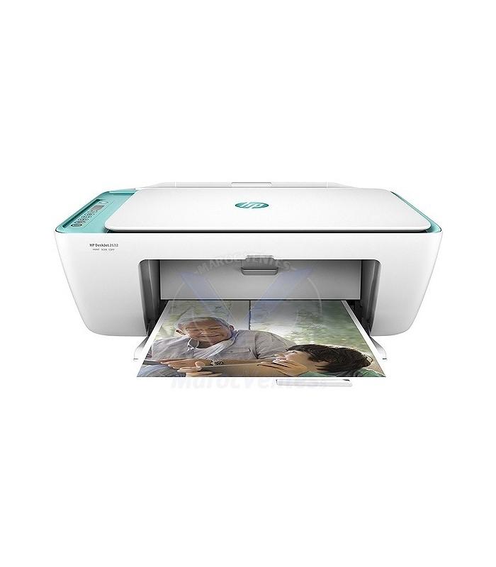 Acheter Imprimante Multifonction Jet d'encre HP DeskJet 2632 (V1N05C) - Casablanca Maroc